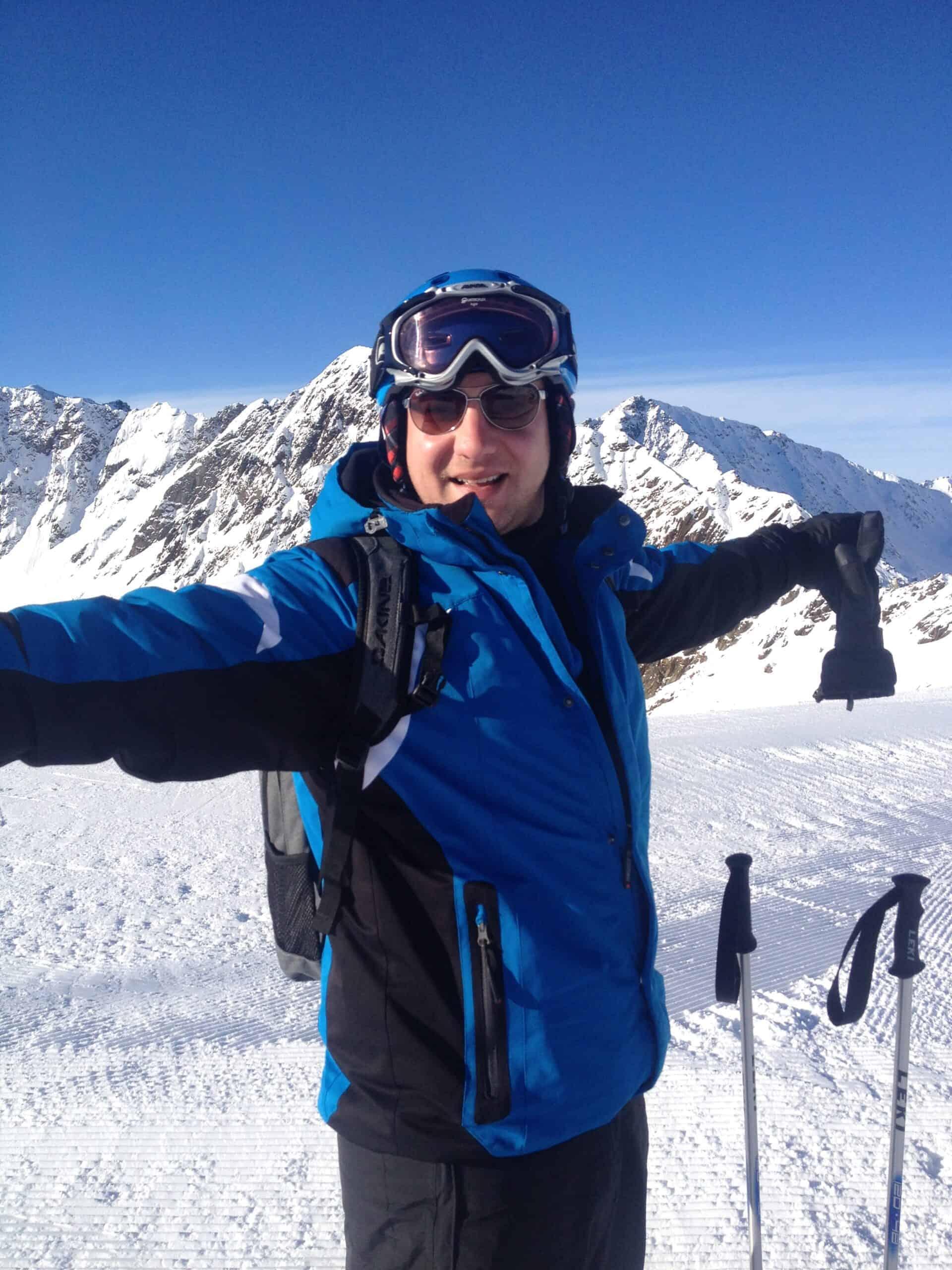 Martin Pavel beim Skifahren
