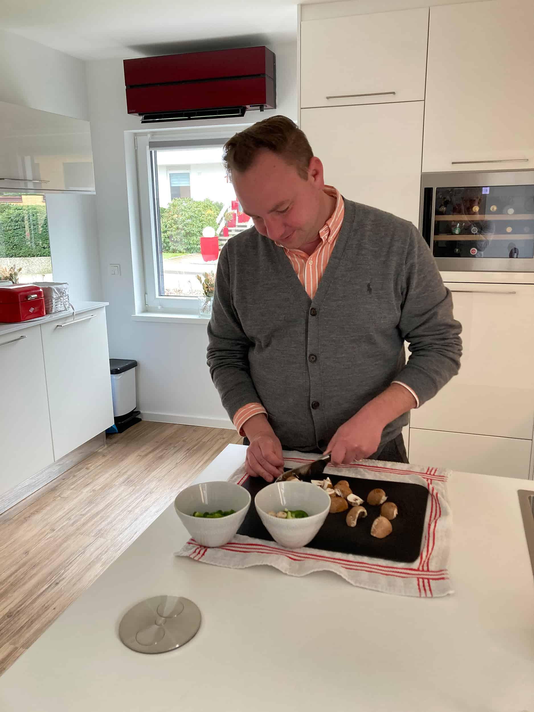 Martin Pavel Küche kochen Champignons