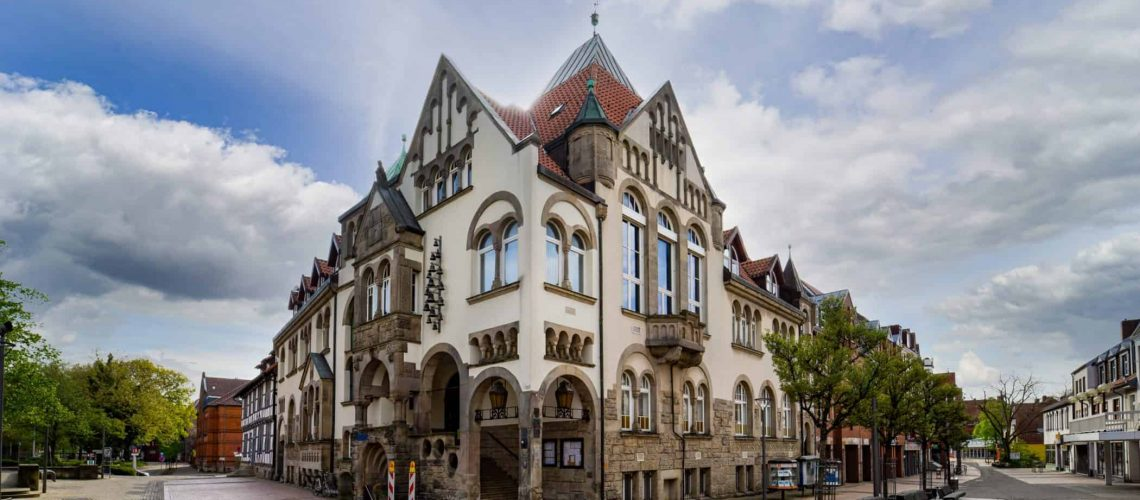Rathausgebäude in der Wunstorfer Innenstadt